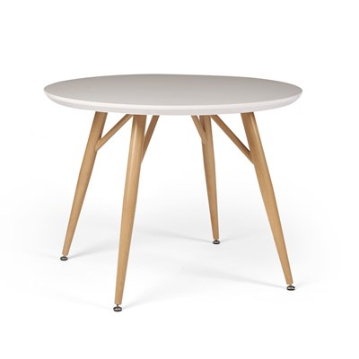 Anderson Round Gloss Dining Table - White
