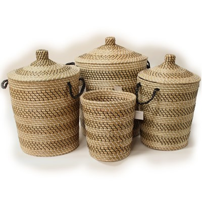 Ali Baba Storage Baskets Black And white Pattern