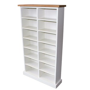 Oak Top Painted CD Storage 300