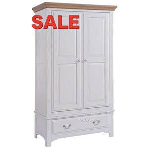 Denby 2 Door 1 Drawer Wardrobe