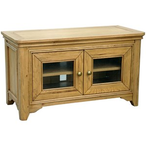French Oak Glazed Two Door Tv Unit