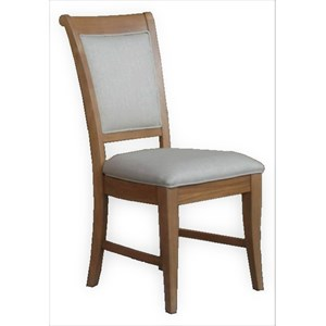 French Oak Upholstered Chair