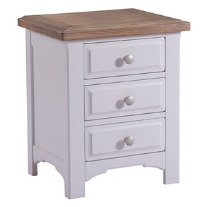 Denby Grey 3 Drawer Bedside