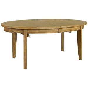 French Oak Oval Extending Dining Table
