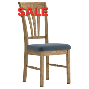 French Oak Dining Chair Slate Seat Design