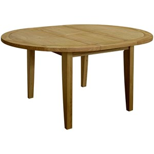 French Oak Round Extending Dining Table