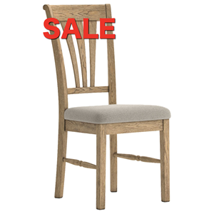 French Oak Dining Chair Almond Seat Design