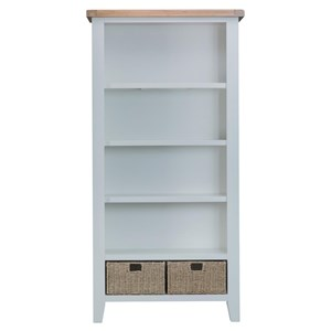 Manor House Grey Large Bookcase