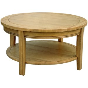 French Oak Round Coffee Table