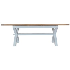 Manor House Grey 1.8m Cross Leg Extending Table