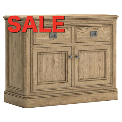 French oak 2 Door Small Sideboard