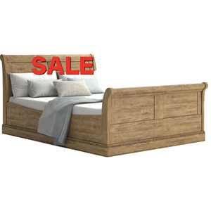French Oak 4ft 6' Bedstead
