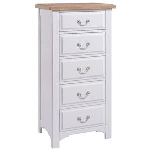 Denby Grey 5 Drawer Wellington
