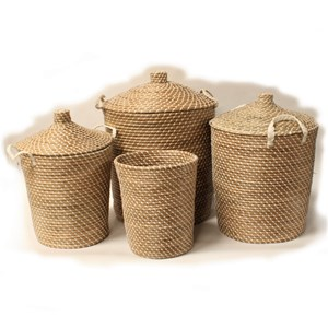 Ali Baba Storage Baskets White Pattern