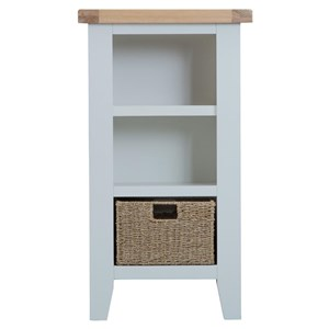 Manor House Grey Small Narrow Bookcase