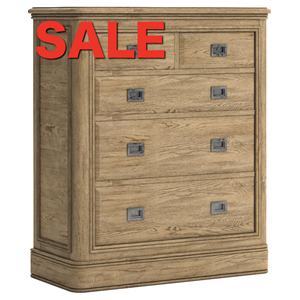 French Oak Two Over Three Wide chest