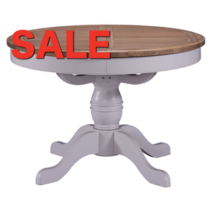 Denby Grey Round Extending Table